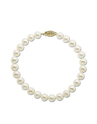 Lord And Taylor 14 Kt. Yellow Gold Freshwater Pearl Strand Bracelet White