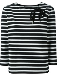 Marc By Marc Jacobs Lace Up Detail T Shirt Black