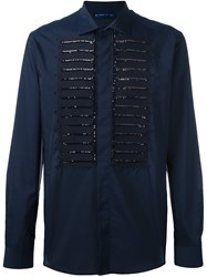 Etro Sequin Embellished Shirt Blue