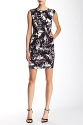 Marc New York Sleeveless Printed Sheath Dress Black