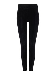 Episode Faux Suede Front Legging Black