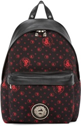 Versus Black And Red Lion Print Backpack