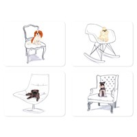 Magpie Jo Clark Sit Placemats Sets Of 4 Design 2