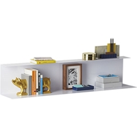 Bent Metal White Wall Shelf Cb2