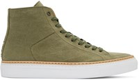 No.288 Green Canvas Mulberry High Top Sneakers