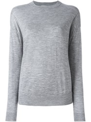 Le Kasha Crew Neck Jumper Grey