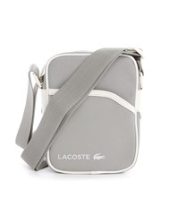 Lacoste Grey Dual Fabric Messenger Bag