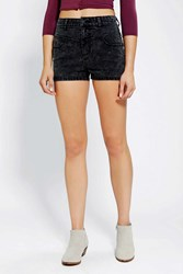 Bdg Seamed High Rise Short Washed Black