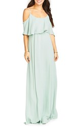 Show Me Your Mumu Women's 'Caitlin' Convertible Ruffle Bodice Chiffon Gown Dusty Mint