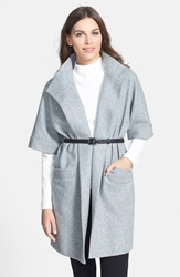 Classiques Entier 'Dover' Wool Blend Flannel Wrap Jacket Heather Grey Dover