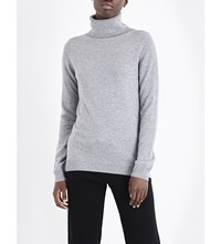 Allude Waffle Knit Cashmere Jumper Heather Grey