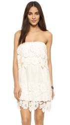 Tiare Hawaii Devon Strapless Lace Dress Off White
