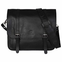 Sterling And Pelle James Black Leather Satchel Bag