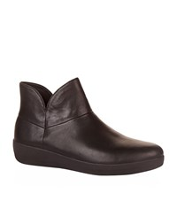 Fitflop Supermod Leather Ankle Boots Female Black