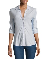 James Perse Contrast Panel Shirt Calistoga