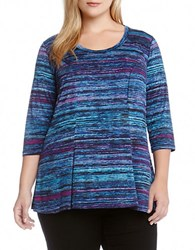 Karen Kane Plus Patterned A Line Tunic Top