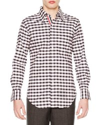 Thom Browne Check Long Sleeve Sport Shirt Red White Blue Red White Blue