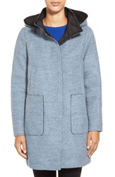 Vince Camuto Boucle Duffle Coat Dusty Blue