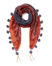 East Ella Print Scarf Red
