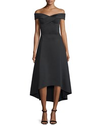 Rachel Gilbert Enico Off The Shoulder Dress Black Women's