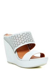 Gentle Souls By Kenneth Cole Candice 2 Cutout Platform Wedge Sandal Blue