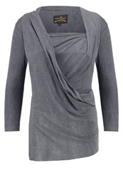 Vivienne Westwood Anglomania Three Quarter Long Sleeved Top Grey