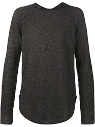 Lost And Found Marled Sweater Black