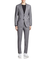 Hugo Fine Stripe Slim Fit Suit Medium Grey