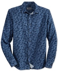 American Rag Men's Tossed Wolf Shirt Only At Macy's Basic Navy
