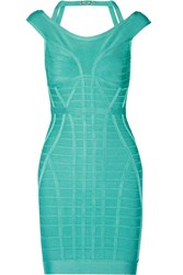 Herve Leger Connie Bandage Dress Green