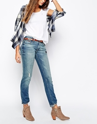 Tommy Hilfiger Hilfiger Denim Destroyed Girlfriend Jeans Midwash