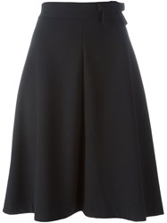 Red Valentino Bow Detail Skirt Black
