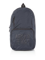Armani Jeans Ripstop Foldaway Backpack Navy