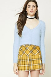 Forever 21 Cropped Fuzzy Knit Cardigan