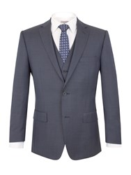 Pierre Cardin Prince Of Wales Check Regular Fit Jacket Blue