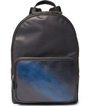 Berluti Time Off Leather Backpack Blue