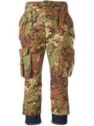 Dsquared2 'Livery Tenent Icon' Cropped Camouflage Trousers Green