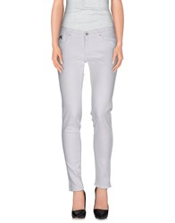 Take Two Denim Denim Trousers Women White