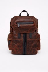 Alexander Wang Marti Waxy Distressed Leather Back Pack Sandstorm