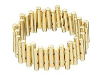 French Connection Staggered Tube Stretch Bracelet Gold Bracelet