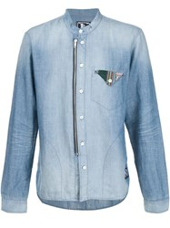 Prps Flap Pocket Detail Denim Shirt Blue