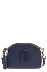 Marc Jacobs 'Small Shutter' Leather Camera Bag Blue Midnight Blue