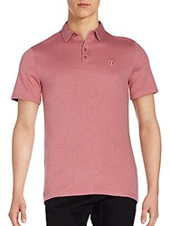 Vince Camuto Logo Polo Shirt Heather Rose