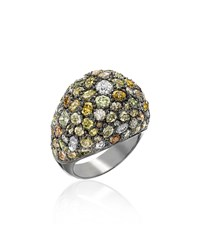Kimberly Mcdonald Multicolor Diamond Dome Ring Size 6