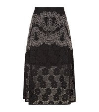 Sandro Hajar Lace Midi Skirt Female Black