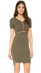 Torn By Ronny Kobo Maricella Dress Olive