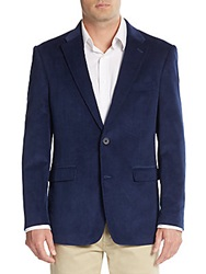 Tommy Hilfiger Regular Fit Corduroy Blazer Royal Blue