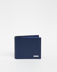 Lacoste Leather Billfold Wallet Blue