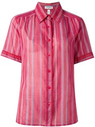 Ca Line Vintage Striped Shirt Pink And Purple