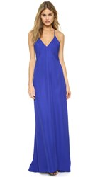 Mason By Michelle Mason Chiffon Panel Bias Gown Royal